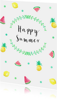 Vakantiekaart summer fruit