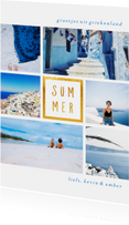 Vakantiekaart 'Summer' met 6 foto's