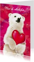 valentijn 3 ijsbeertje met hart