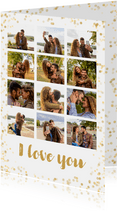 Valentijn collage 12 foto's met confetti