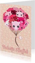 Valentijnskaarten - Valentijn Kawaii Ballonnen - TbJ