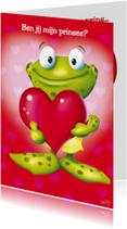 Valentijn kikker met groot hart