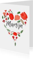Valentijn, naam in een hartje