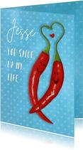 Valentijn pittige pepers