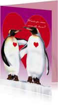 valentijn1 pinguins met groot hart