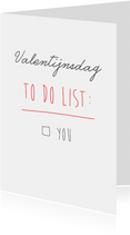 valentijns to do list