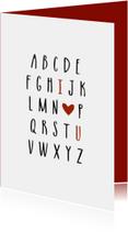 Valentijnskaart abc - HM