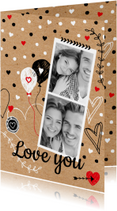 Valentijnskaart foto zwartwit