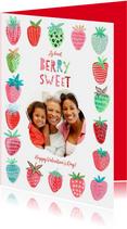 Valentijnskaart fruit & aardbeien