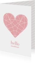 Valentijnskaart geometric heart