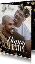 Valentijnskaart hartjeskader Happy Valentine
