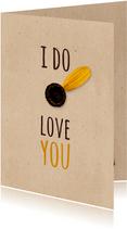 Valentijnskaart I do love you