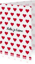 Valentijnskaart Je t'aime