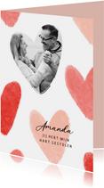 Valentijnskaart liefde hartjes foto hart gestolen