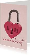 Valentijnskaart liefdeslot