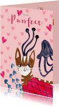 Valentijnskaart met een Purrfect Poes