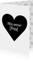 Valentijnskaart Mon Amour