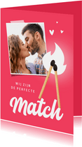Valentijnskaart perfecte match lucifer foto hartjes