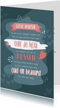 Valentijnskaart voor een man met tekst 'ik hou van jou'