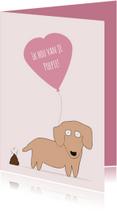 Valentijnskaarten - Valentijnskaart voor je poepie