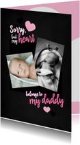 Valentijnskaart voor papa