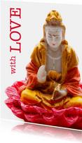 Valentijnskaart With Love boeddha - OT