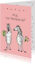 Valentijnskaarten - Valentijnskaart Zebra's