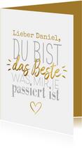 Valentinskarte 'Du bist das Beste'