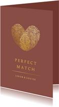Valentinskarte Fingerabdrücke