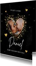 Valentinskarte Foto in Herz