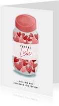 Valentinskarte Liebesvorrat