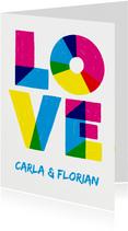 Valentinskarte LOVE cmyk