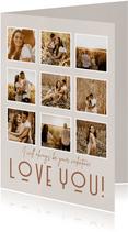 Valentinskarte 'Love you' Fotocollage