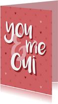 Valentinskarte 'You & me, oui'