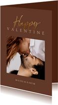 Valentinstag Fotokarte 'Happy Valentine'