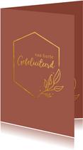 Van harte gefeliciteerd - a touch of gold - felicitatiekaart