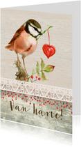 Van harte, met een vogeltje