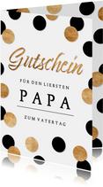 Vatertag Gutscheinkarte Konfetti
