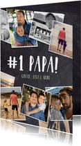 Vatertagskarte '# 1 PAPA!' mit Fotos