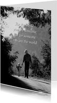Vatertagskarte Fotomotiv 'For the world'