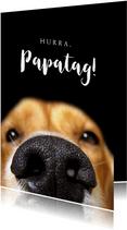Vatertagskarte Hundenase