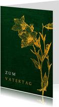 Vatertagskarte mit Blumen klassisch