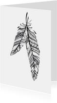 Veren zwart/wit illustratie