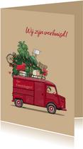 Verhuis kerstkaart HY rood