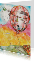 Verhuisbericht en nieuwe woning luchtballon