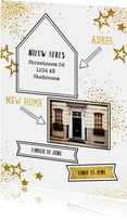 Verhuiskaarten - Verhuisd! hippe adreswijziging met een eigen foto