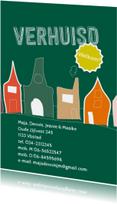 Verhuisd illustratie huizen