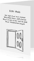 Verhuiskaart Deur - Gedicht