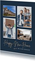Verhuiskaart fotokaart happy new home sleutel