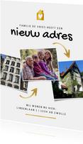 Verhuiskaart foto's oud huis nieuw huis